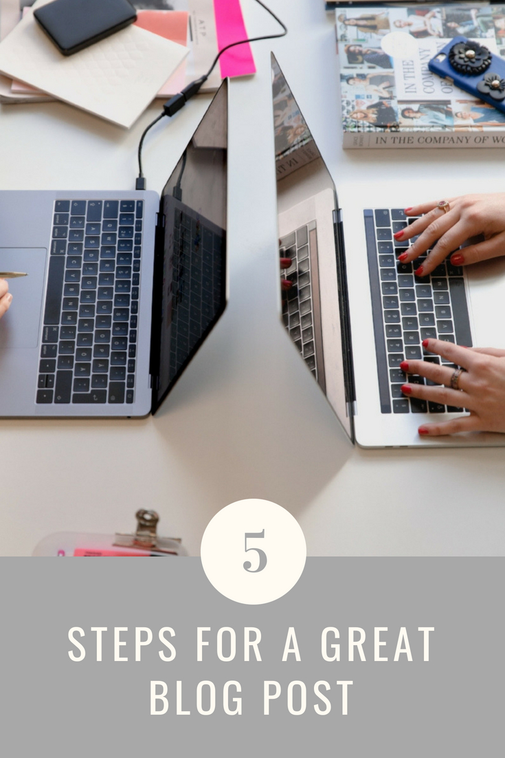 5 steps for a great blog post