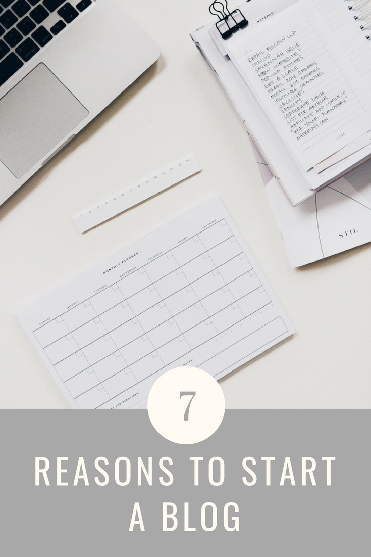 7 Reasons to Start a Blog