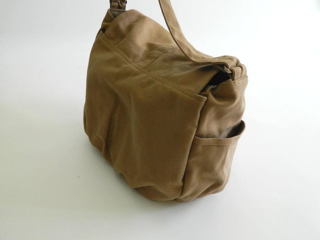 DANIEL- Sahara brown Canvas Cross Body Bag — CHRISTY STUDIO f14db39cfa10f