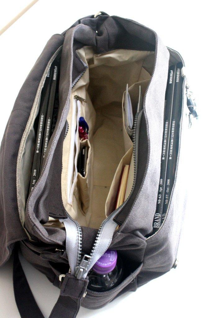 632f78603105 DANIEL 18 - Smoke Green Women Canvas Shoulder Bag — CHRISTY STUDIO