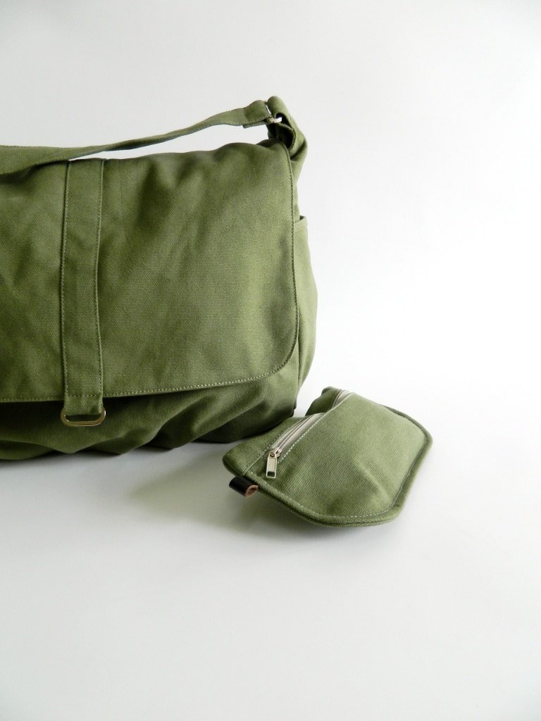 632f78603105 DANIEL 18 - Smoke Green Women Canvas Shoulder Bag — CHRISTY STUDIO