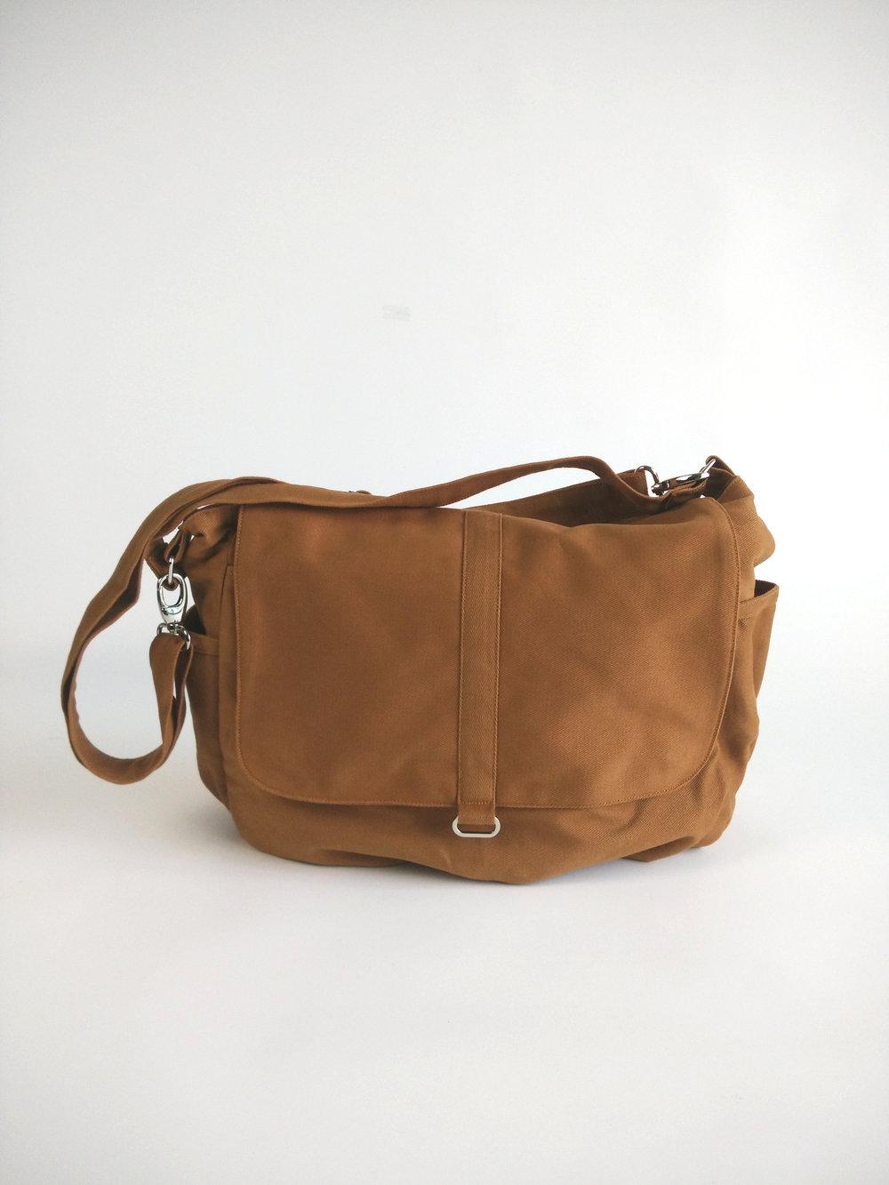 247bfa36e7ac DANIEL - Cognac Brown Diaper Bag — CHRISTY STUDIO