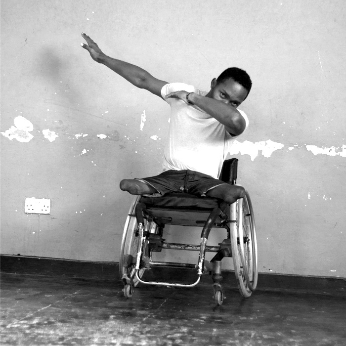 Mubiru Kevin - In his free time he enjoys wheelchair basketball and wheelchair racing. Kevin is also a DJ and studying Computer Engineering at Makerere University.When talking about SPLASH he says, 'SPLASH Dance Company is really a caring and loving group.'