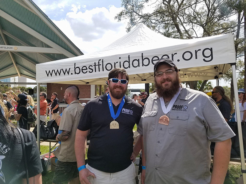 Arin Brown & David Kant-Rauch at Best Florida Beer Championship