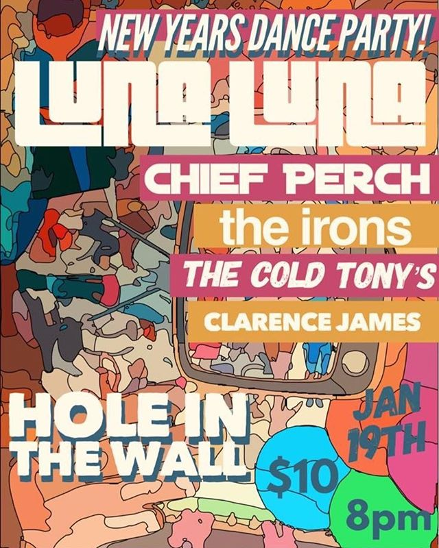 next saturday (1.19) catch us at @hitwatx with @lunalunaband @theironsband @thecoldtonys & @cl_rencej_mes  music starts at 8:30pm, we're on at 10:30pm, $10 @ the door
