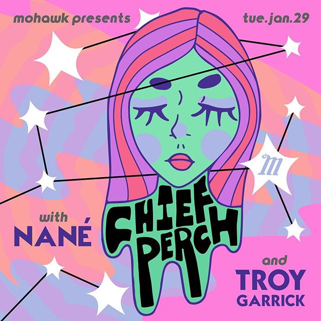 one week from today (1/29) we're at @mohawkaustin with the homies @nanetheband & @troygarrick || $10, doors @ 8pm, all ages