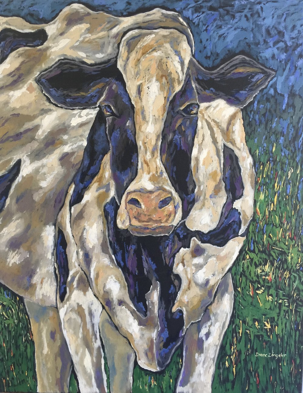 Betsy - 24'' W x 30'' H - oil