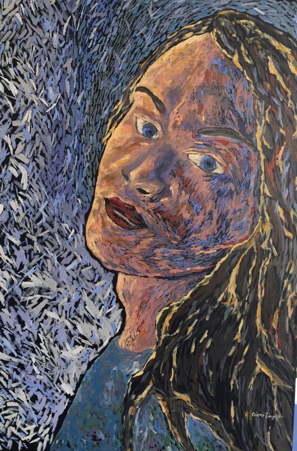 Stephanie - 20'' W x 30'' H - oil