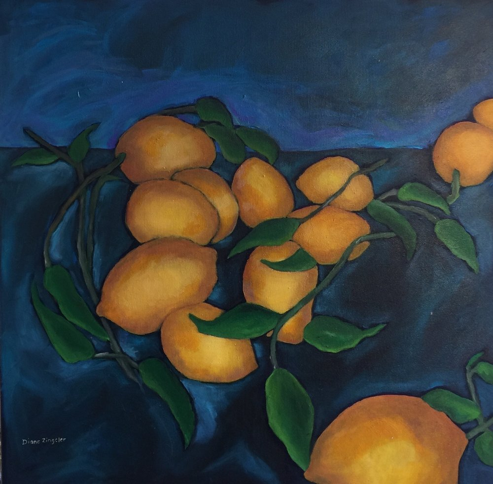Lemons - 30'' x 30'' - Acrylic