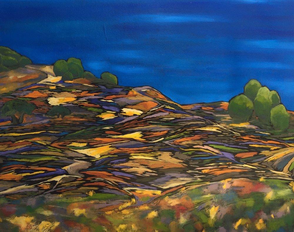 Sunny Day - 30'' W x 24'' H - oil