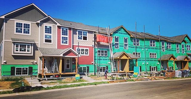 Siding crew is working to complete this 7 unit town home this week!