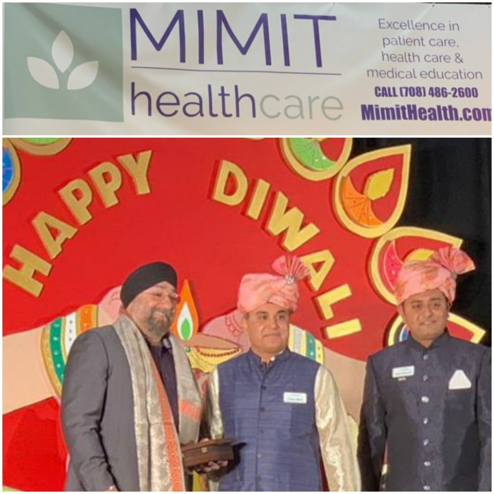 Dr. Romi Chopra being honored for Hosting Diwali Festival