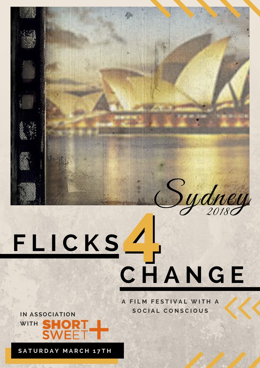 F4C Goes International! - In association with Short + Sweet, Flicks4Change goes International to bring change all over the globe.