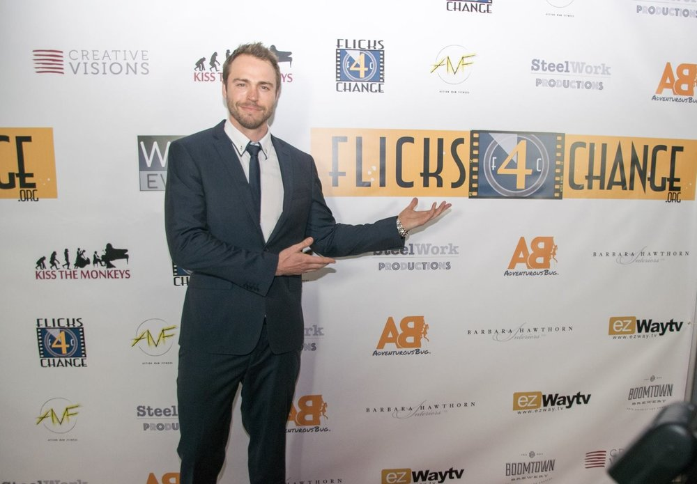 Andrew Steel - Founder and President.Australian actor, producer, and musician passionate about giving people a voice. Flicks4Change is the direct result of his strong desire to give back by creating a community for those brave enough to invite the discussion of change into their lives.