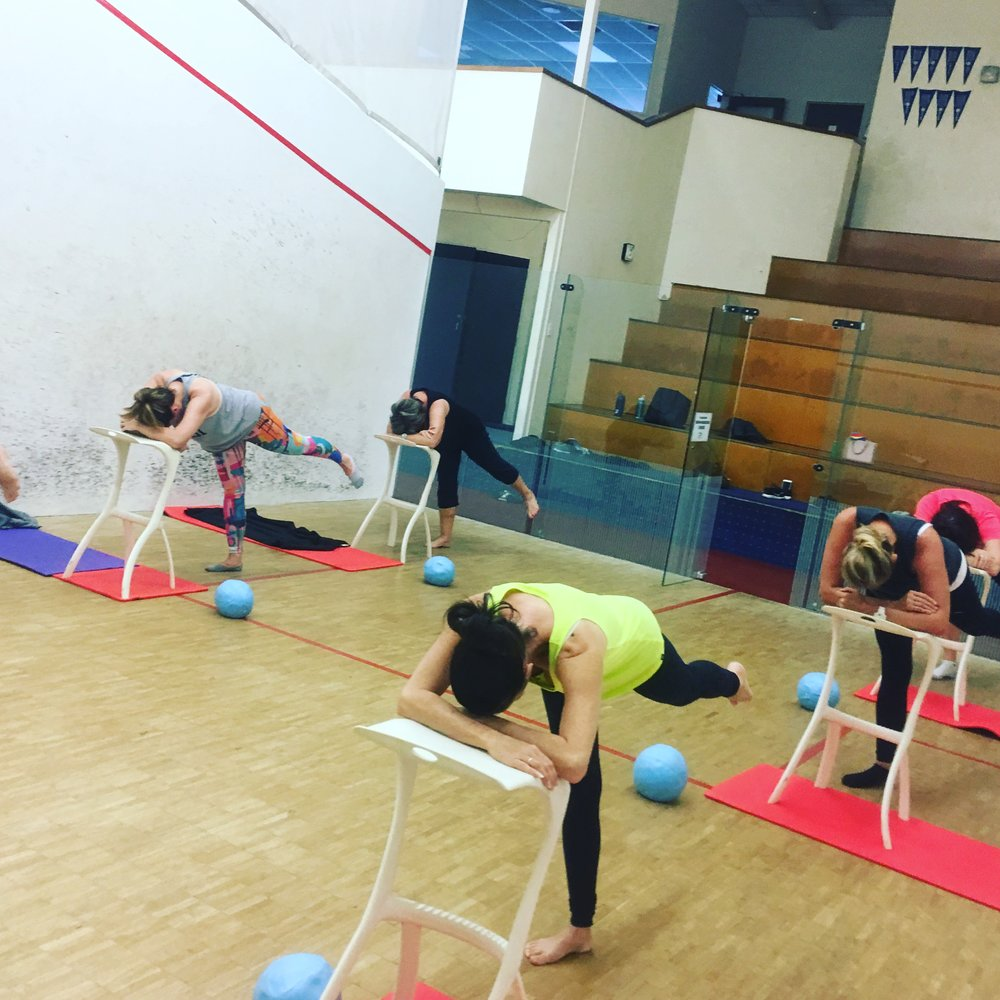 Barre - Using large muscle areas like glutes and quads get you warm really fast!