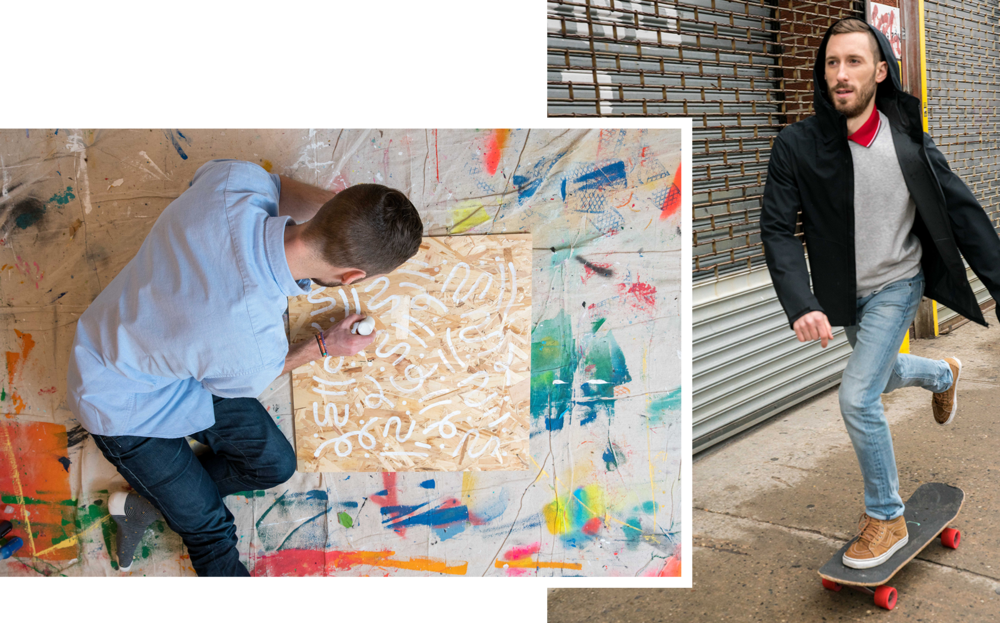 For These Two Artists, Getting Outside Is the Key to their Creativity (Uniqlo, VICE)