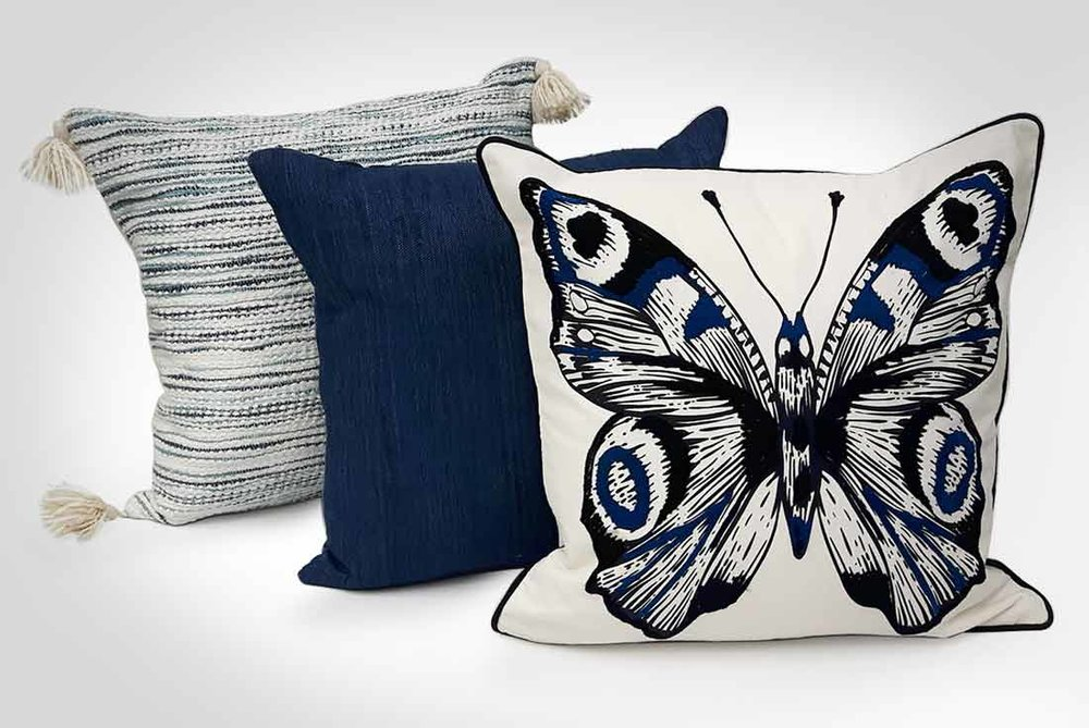 decor textiles - With fabrics ranging from natural woven cotton to Mongolian faux fur, and design options such as bold graphics, painterly blooms and fun expressions, our decorative cushion capabilities are endless.