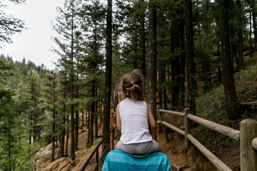 Captured by Best Documentary Family Photographer, Renee McDaniel of Renee McDaniel Photography in Manhattan Kansas. Photographed at Helen Hunt Falls, Colorado Springs, Colorado.