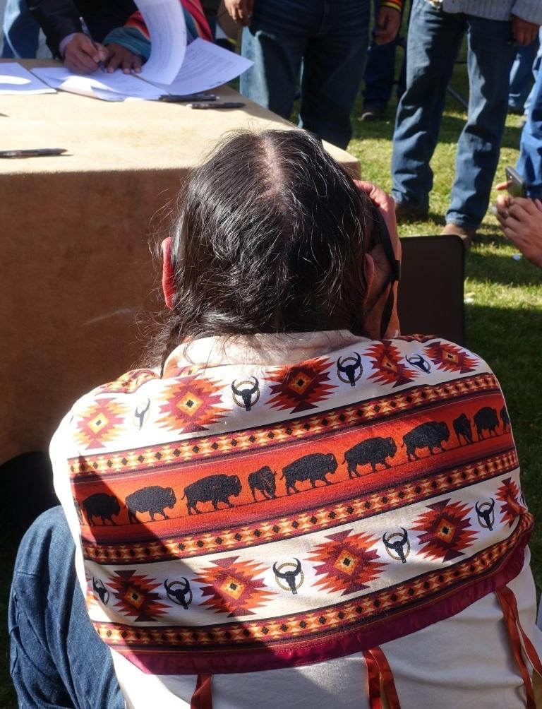 Photo by Cristina Eisenberg Buffalo Shirt at Treaty Signing