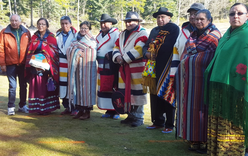Photo by Cristina Eisenberg First Nations Elders at Lake Minnewanka Pipe Ceremony