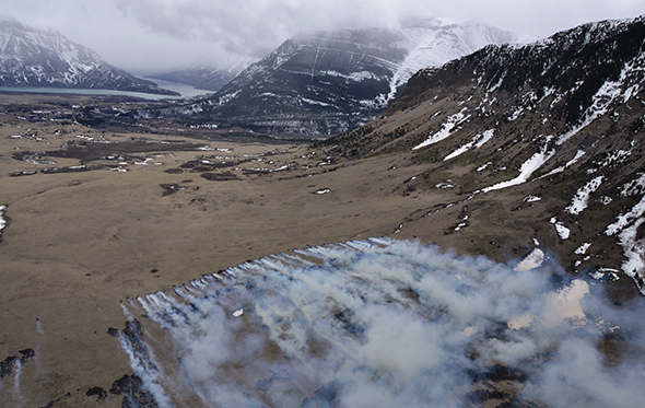 Waterton Lakes National Park Prescribed Fire, Photo Parks Canada