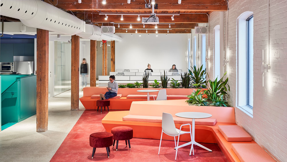 Lift & Co - Lift & Co has moved into their dynamic and colourful new office spaces!