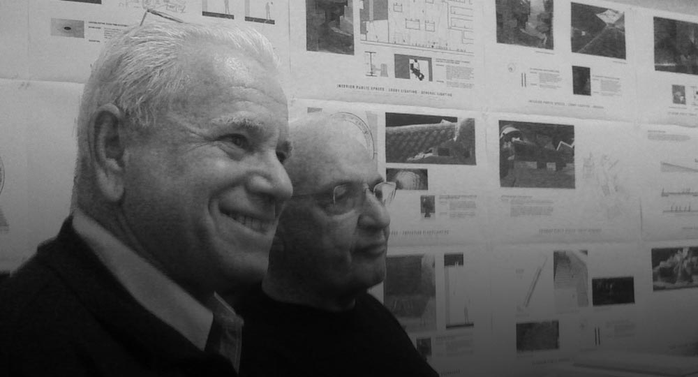With Frank Gehry during the design phase of the Guggenheim Museum, Bilbao.