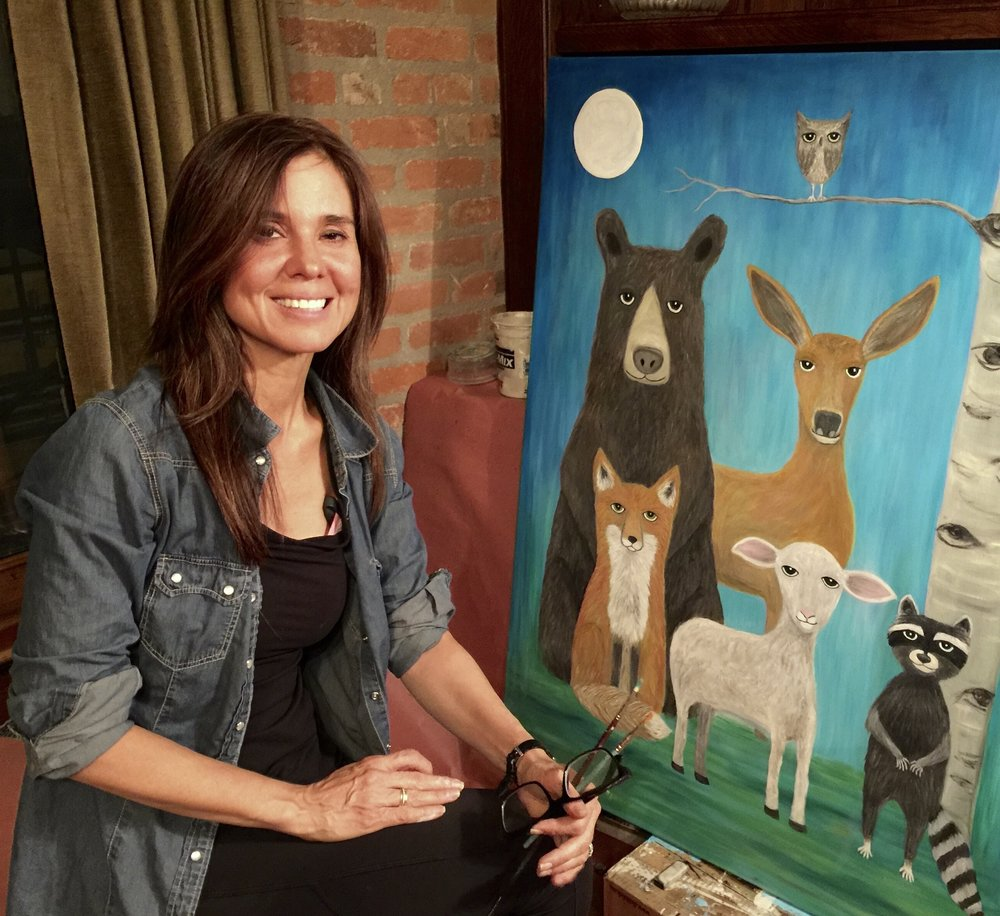 Photo of Kim Wyly, Artist of When Fur and Feather Get Together