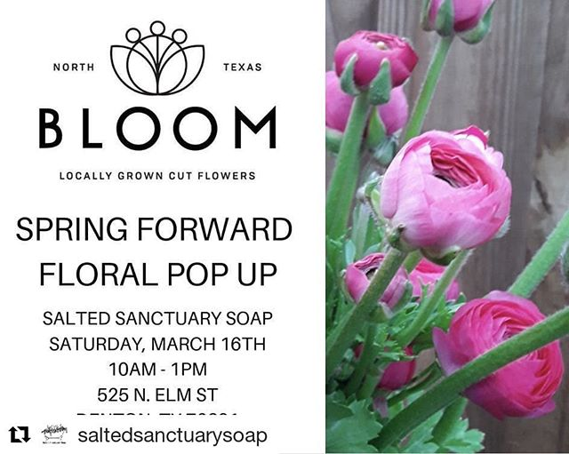 Bloom Bar this Saturday at @saltedsanctuarysoap from 10-1. Ranunculus and mimosas (basically our two favorite things).