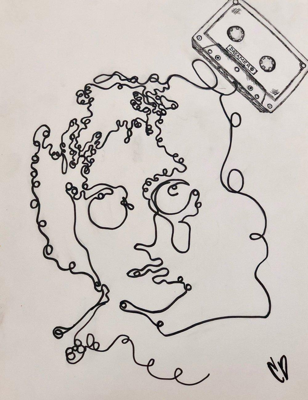 dreamer - marker doodle.
