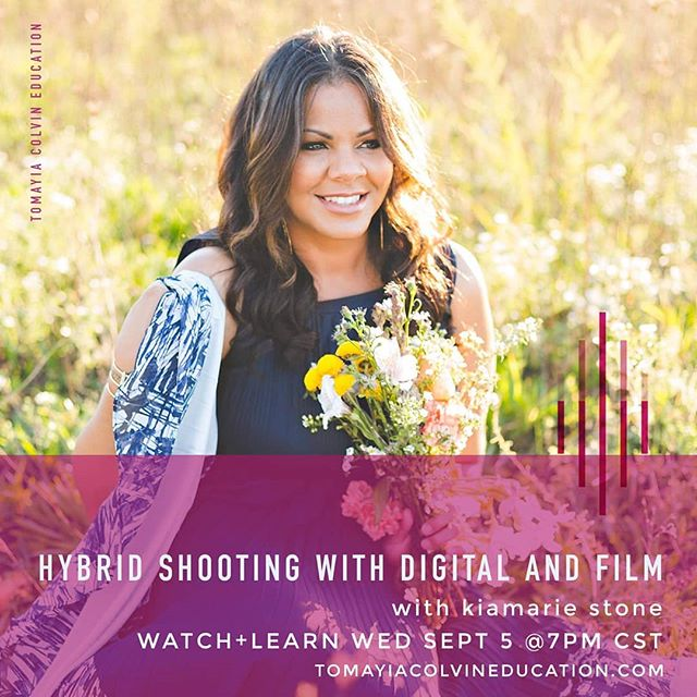 Tonight at 7pm CST tune in to learn more on shooting with digital and film! Class taught by @kiamariestone