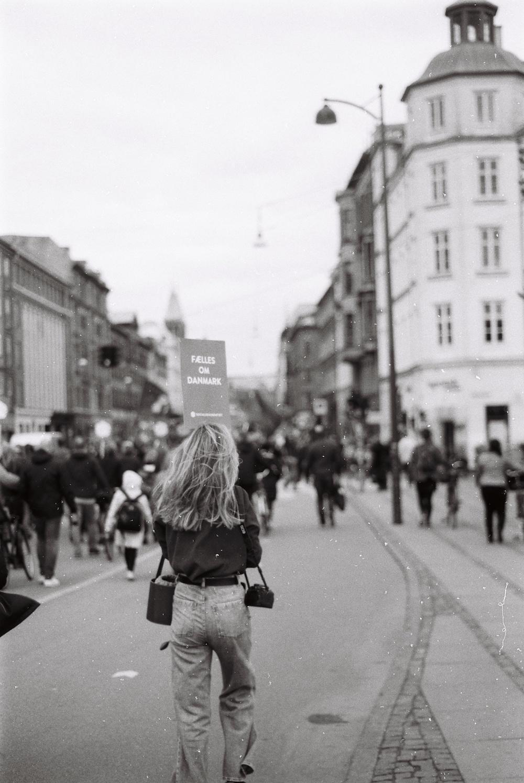 na manifestação