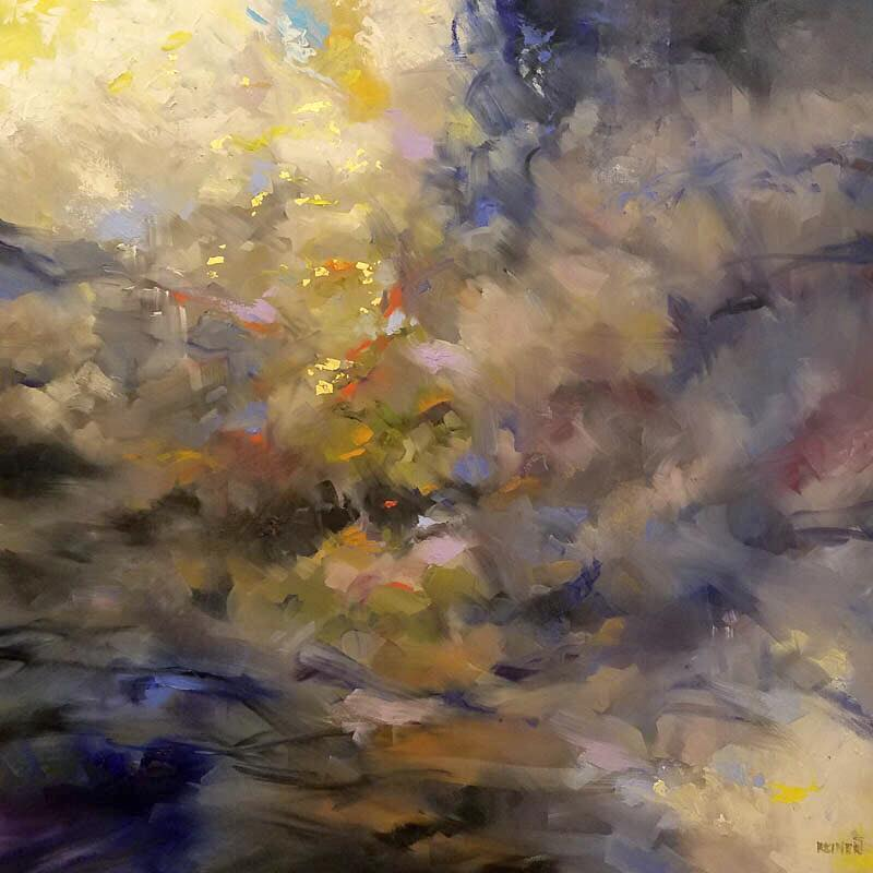 "New available painting by Rick Reinert! ""Redemption"" oil and gold leaf 48x48"""