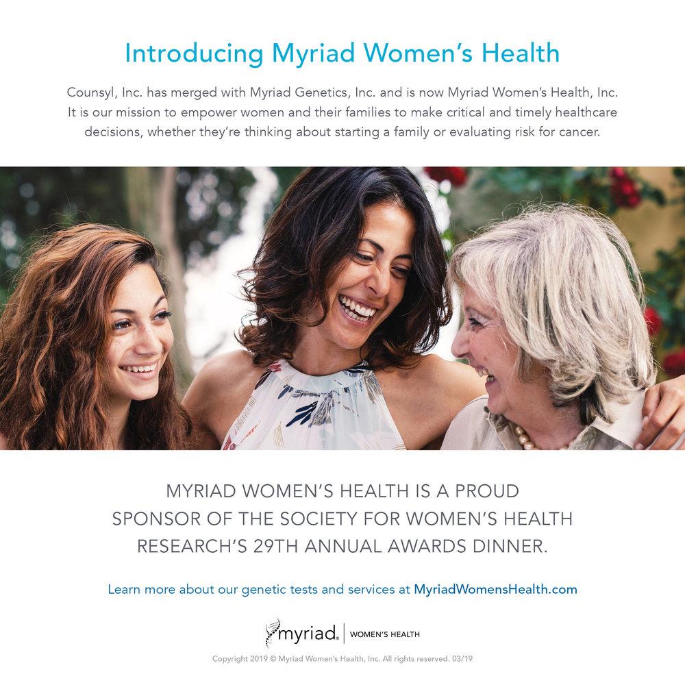 Myriad Women's Health