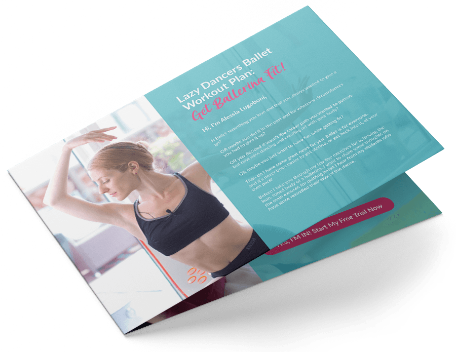 Free Guide Download - Lazy Dancers Ballet Workout Plan: Get Ballerina Fit!This totally free workout plan will take you through the strength and skill building techniques you need to gain a ballerina's confidence and poise, no matter of your schedule, or what age and fitness level you're at. All achieved from the privacy of your living room ― no, really!