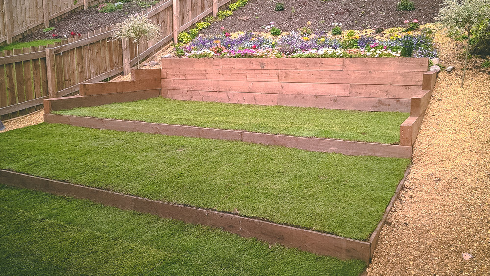 Ground preparation and re-turfing