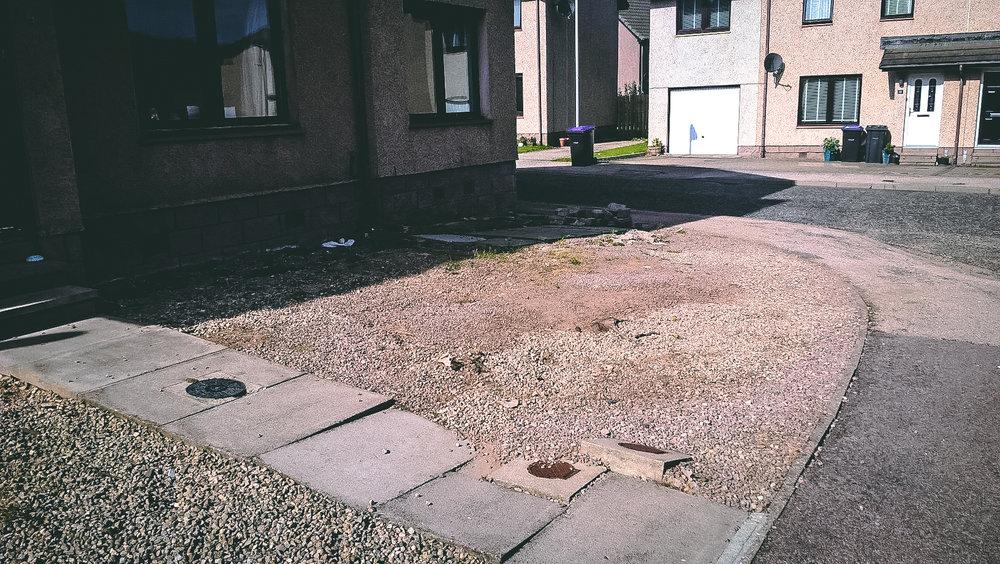 Aberdeen Driveway Before
