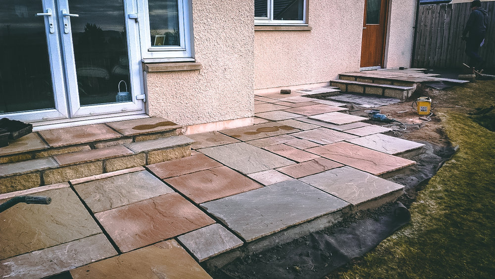 Patio and steps installation