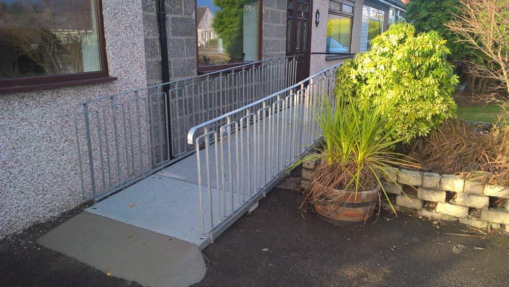 Modular ramp installation, Airyhall