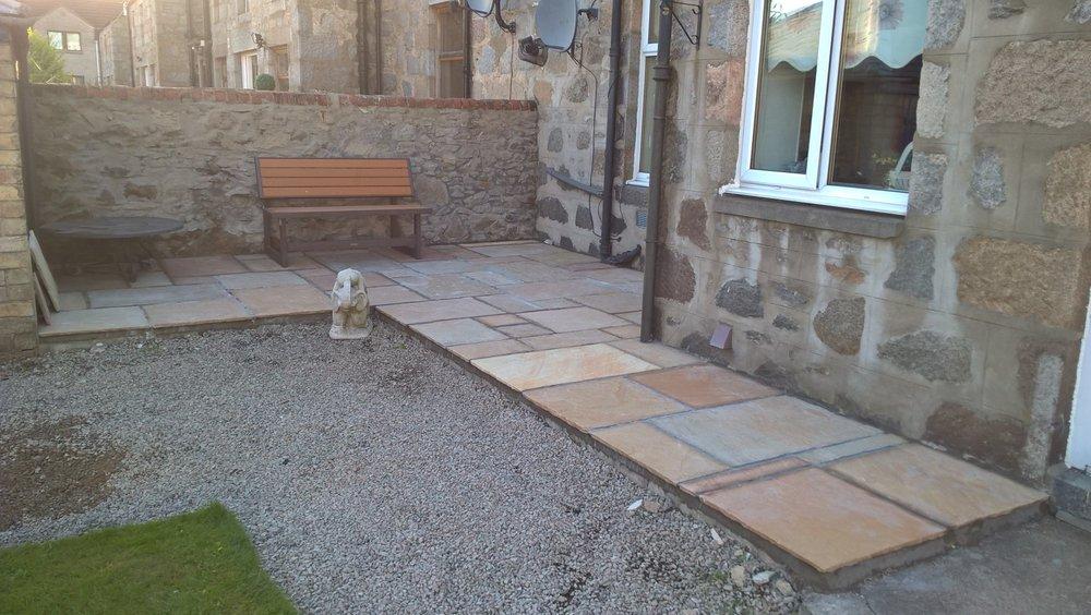 Small patio installation, Inverurie