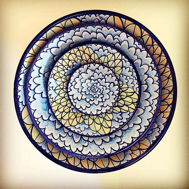 #nestingbowls #majolicapottery #majolica #ceramics #pottery #contemporarycraft #clouds