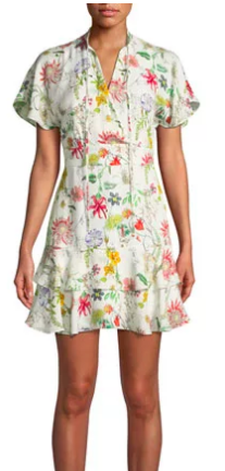 Natalie Floral-Print Silk Dress