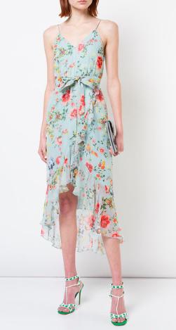 Alice and Olivia Floral Midi Dress