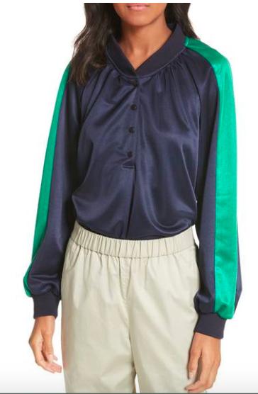Tibi Pullover Track Jacket