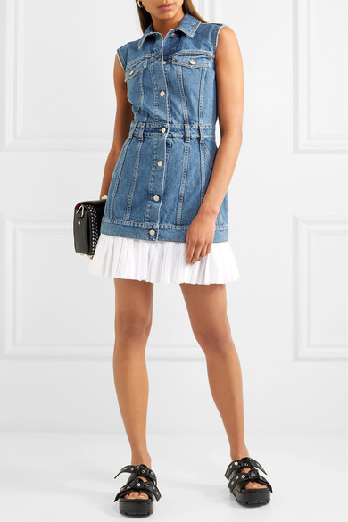 alexander mcqueen poplin denim dress.jpg