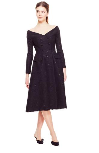 Open-Neck Coat Dress