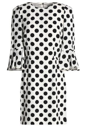 Dolce & Gabbana Polka Dot Crepe Mini Dress