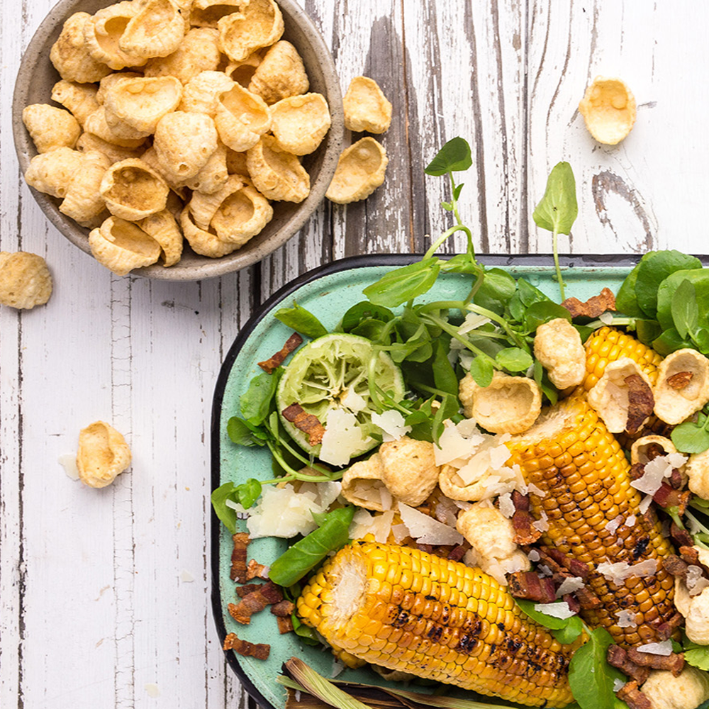 Honey, Lime & Grilled Corn Salad -