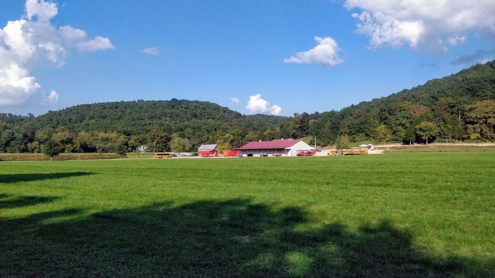 An empty park area