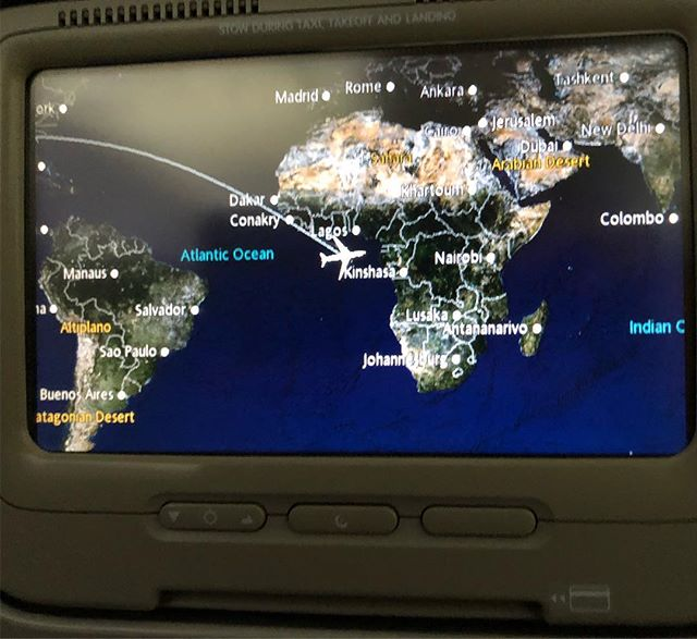My @delta flight thinks Atlanta has moved to Equatorial Guinea, apparently. #DL2314 #0°N0°E